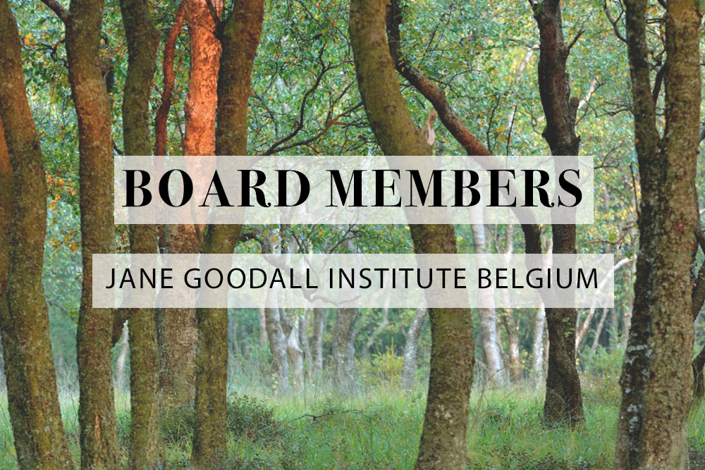 banner board members jane goodall belgium