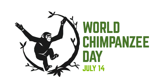 world chimp day logo july 2019